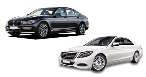 BMW 7 series and MERCEDES S-class